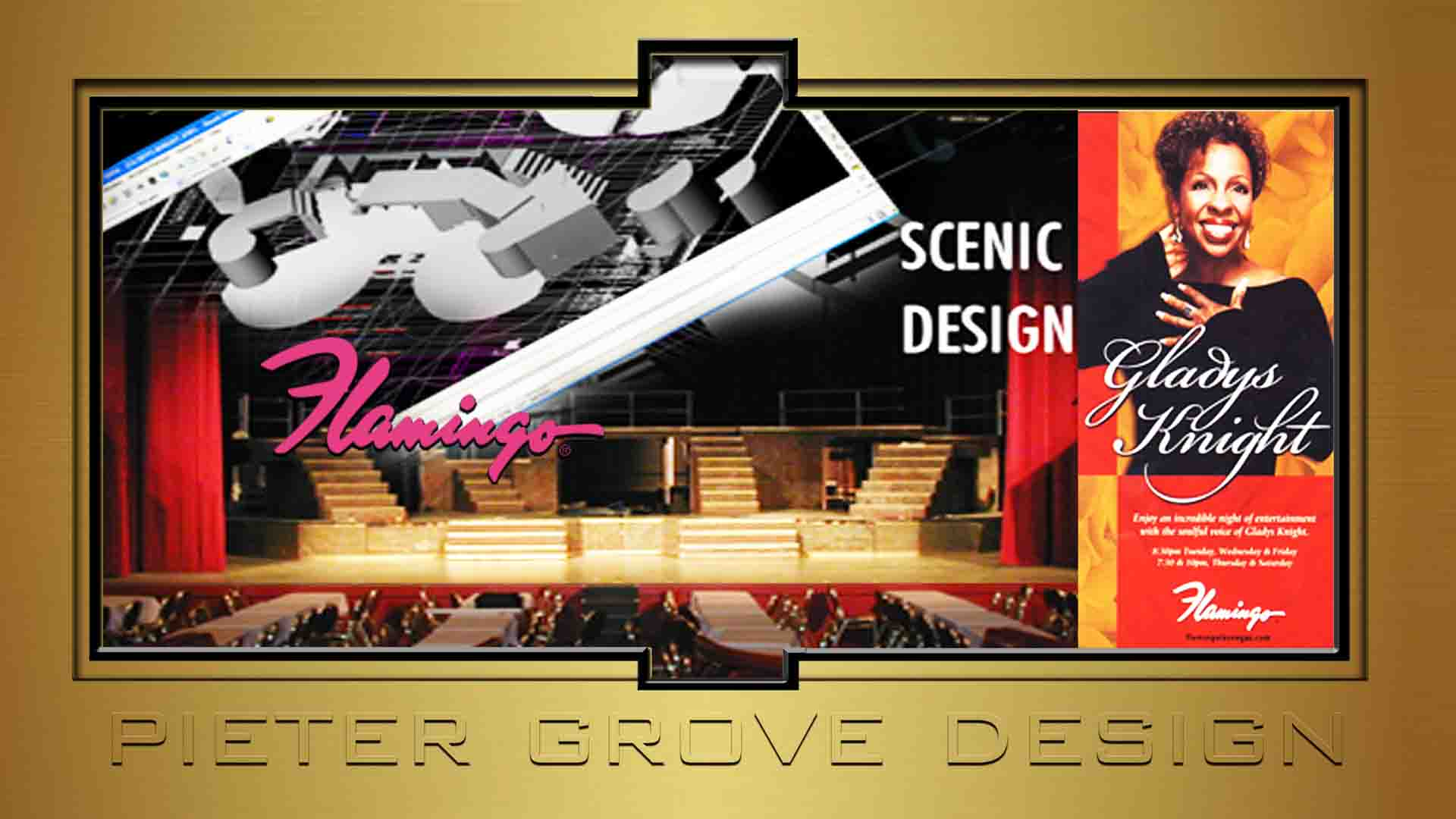 SET DESIGN - GLADYS KNIGHT - PIETER GROVE - LAS VEGAS