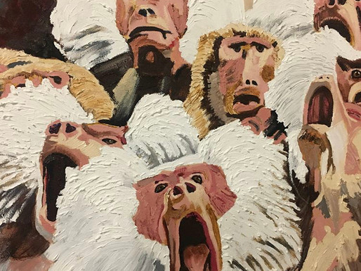 """Black artist receives hate mail after painting """"white"""" monkeys."""