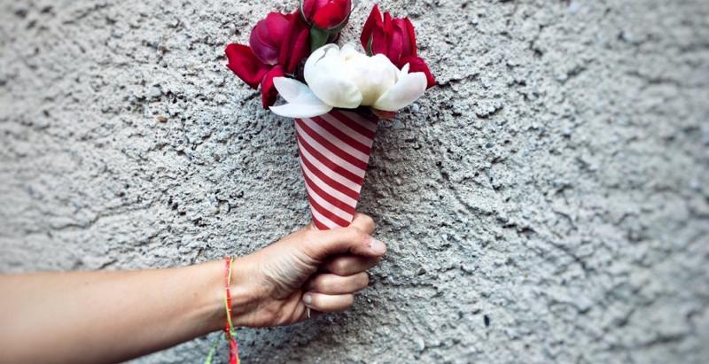 Glace Pivoine Roses de jardin