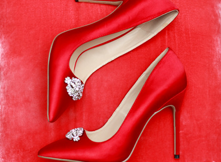 Hot Red Wedding Shoes