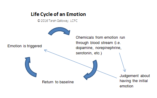 Life cycle of an emotion chart