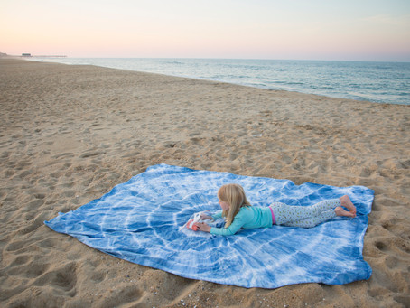 Sunshine Craft: Indigo Beach Blanket