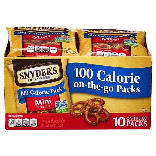Snacks - 2 snack packs of chips or pretzels