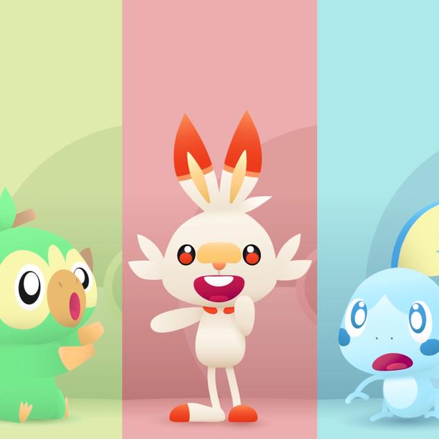 Pokemon Sword & Shield Starters