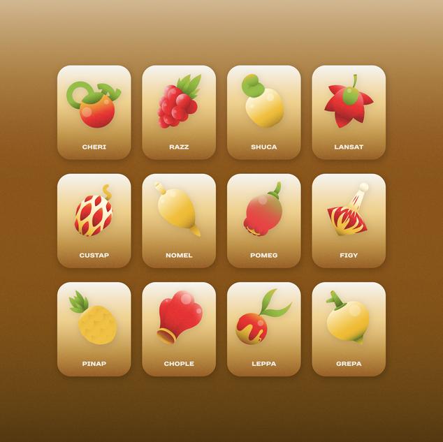 Berries from Pokemon Series