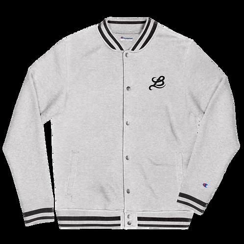 BottomLyne Music Embroidered Champion Bomber Jacket