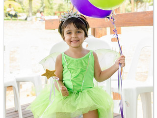 Sabreen celebrates with Tinkerbell