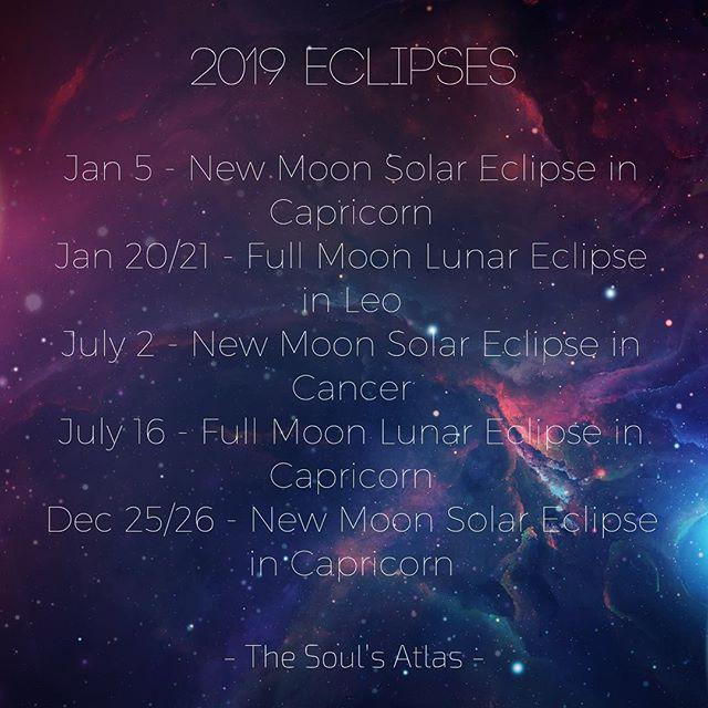 2019 Eclipses