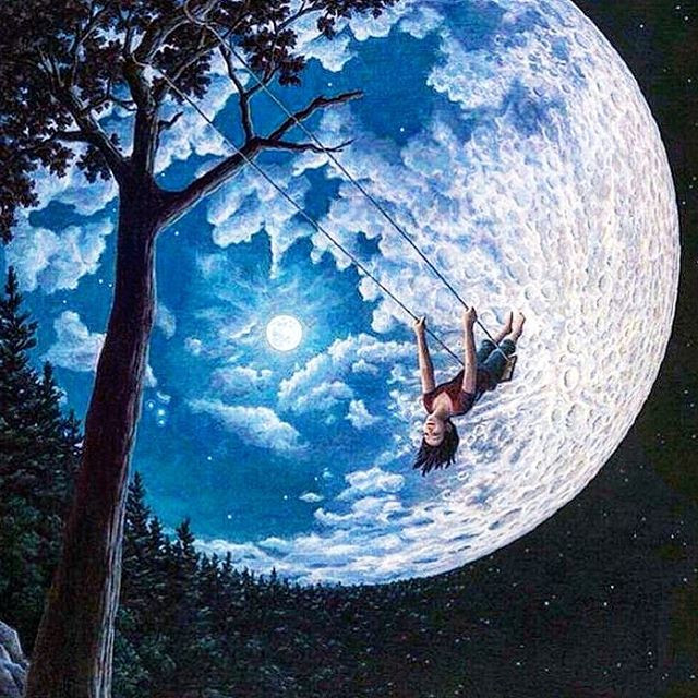 Over The Moon by Ron Gonsalves
