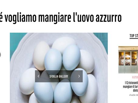 Rassegna stampa - Perché vogliamo mangiare l'uovo azzurro