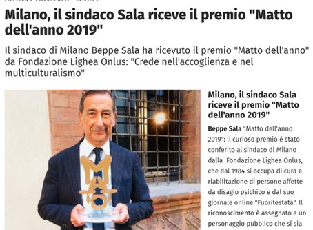 Rassegna stampa - Il sindaco Sala riceve il premio 'Matto dell'anno'