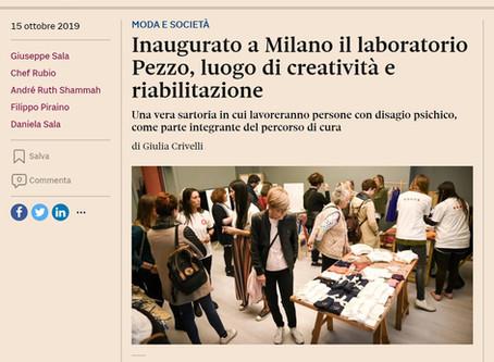 Rassegna stampa - Inaugurato a Milano il laboratorio Pezzo