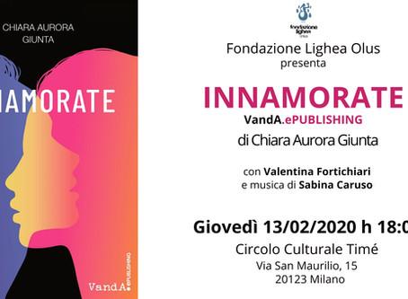 """Il Circolo Culturale Timé ospiterà Chiara Aurora Giunta per la presentazione del libro """"Innamorate"""""""