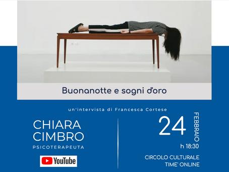 """""""Buonanotte e sogni d'oro"""": il circolo Timé ospita la dottoressa Chiara Cimbro"""