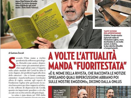 """Su Gente si parla di """"Fuoritestata"""", il giornale online di Fondazione Lighea Onlus"""