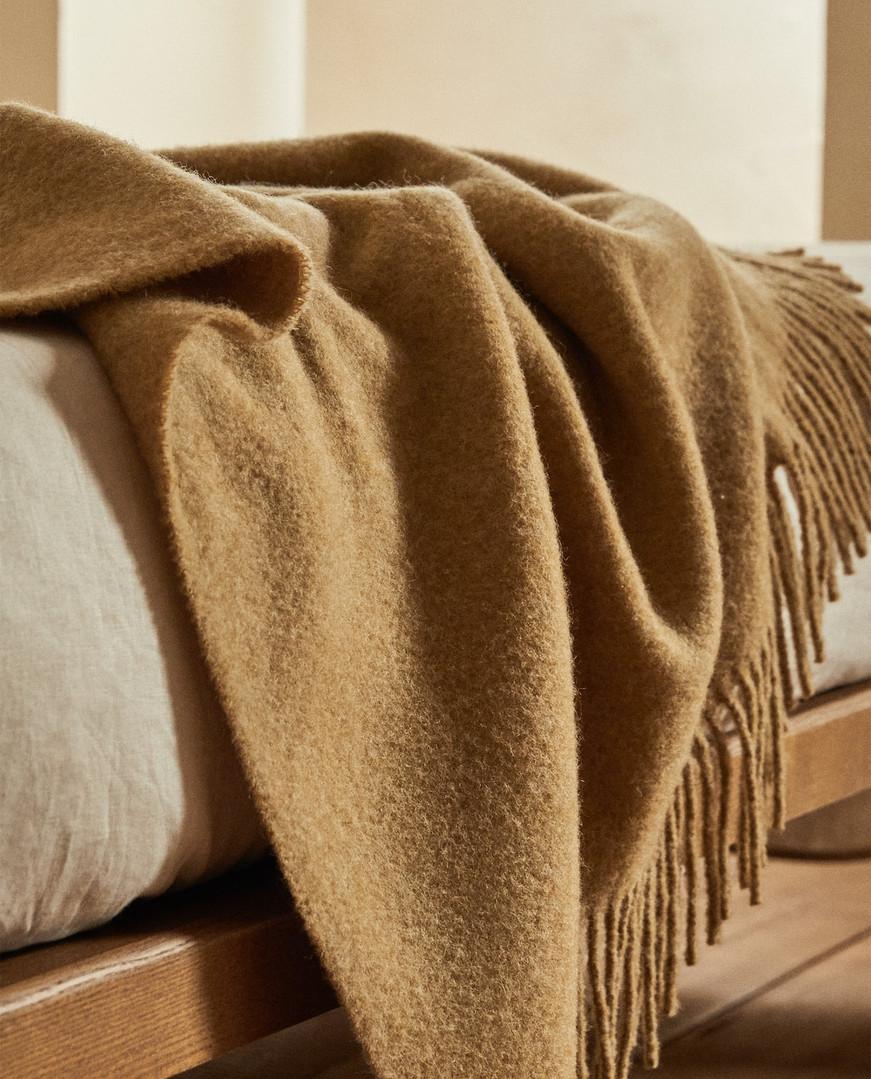Fringed Wool Blanket