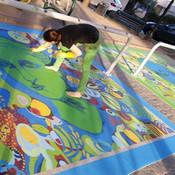 Arte en la Calle, Pintura sobre Piso / Street Art Painting on the Floor