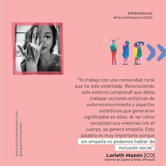 Experiencias de maestras y maestros | Lorieth Mazón