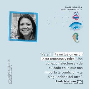 Panel Inclusión | Paula Martínez