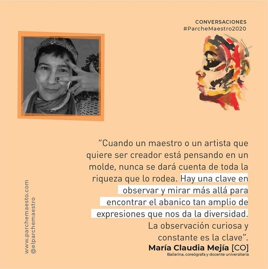 Conversaciones | María Claudia Mejía