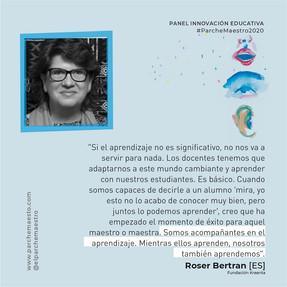 Panel Innovación educativa | Roser Bertran