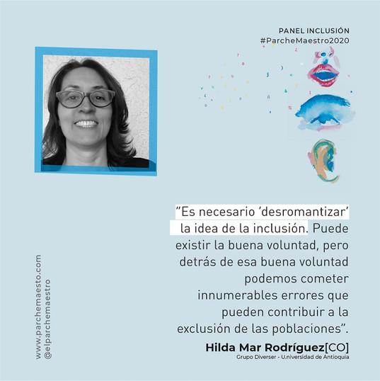 Panel Inclusión | Hilda Mar Rodríguez