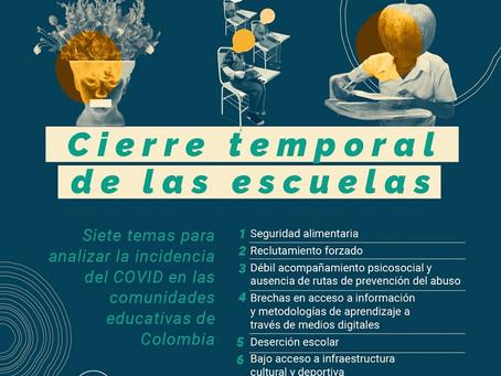 Siete temas para analizar la incidencia del Covid en las comunidades educativas de Colombia