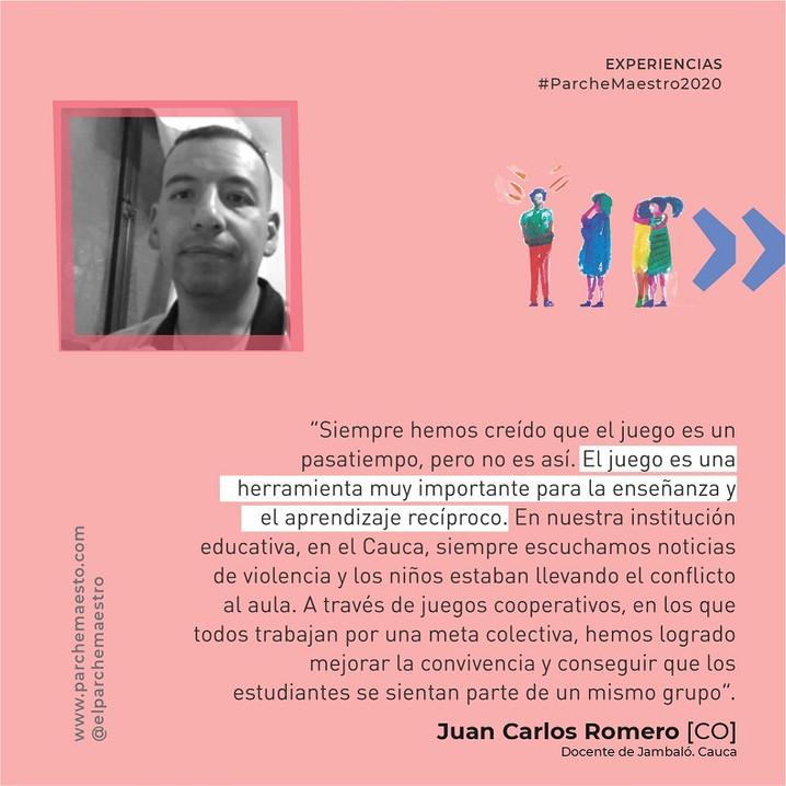 Experiencias de maestras y maestros | Juan Carlos Romero