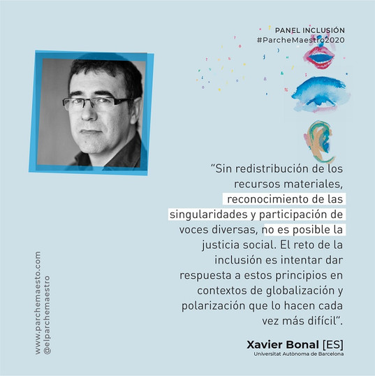 Panel Inclusión | Xavier Bonal