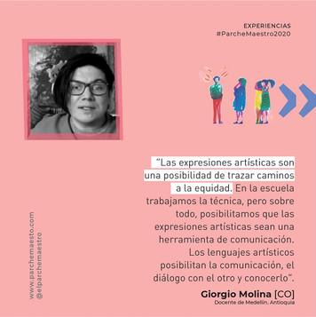 Experiencias de maestras y maestros | Giorgio Molina