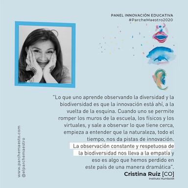 Panel Innovación educativa | Cristina Ruiz