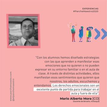 Experiencias de maestras y maestros | Mario Alberto Mora