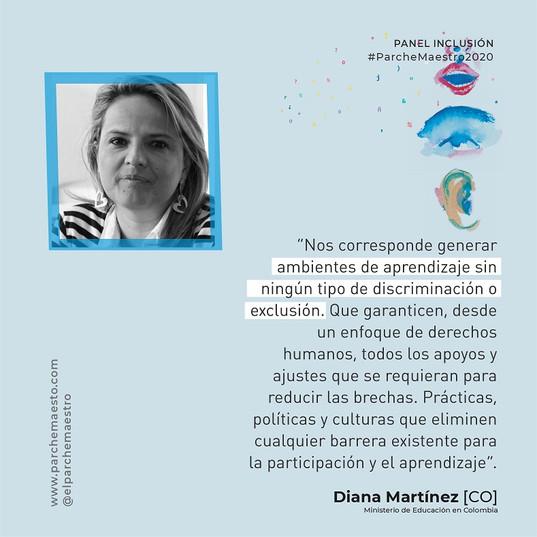 Panel Inclusión | Diana Martínez