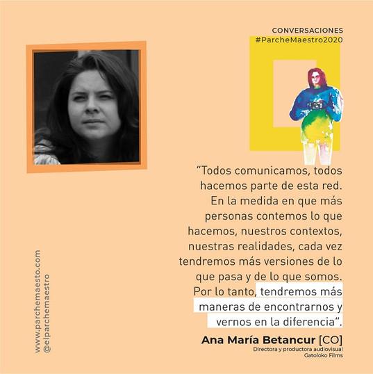 Conversaciones | Ana María Betancur