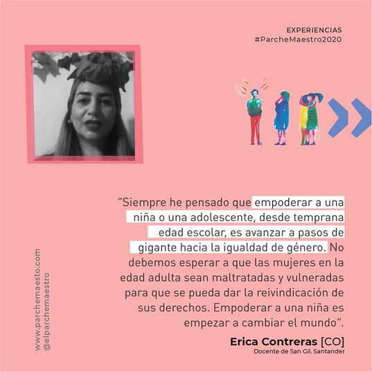 Experiencias de maestras y maestros | Erica Contreras