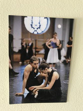 Two dancers at the Paris Opera. Their intimacy reminds me of Marine and Luc.
