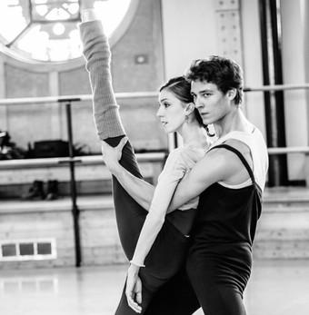 Two étoiles at the Paris Opera rehearsing.