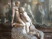 Eternal Idol, by August Rodin, is what made me think of the dancers and their bodies fusing then repelling, the push-pull they constantly have.