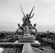 This is the roof of the Palais Garnier with its bronze Pegasus figures sculpted by Eugène-Louis Lequesne.