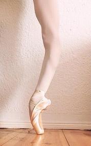 A classical dancer's leg.
