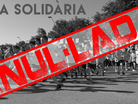 Milla solidària anul·lada.