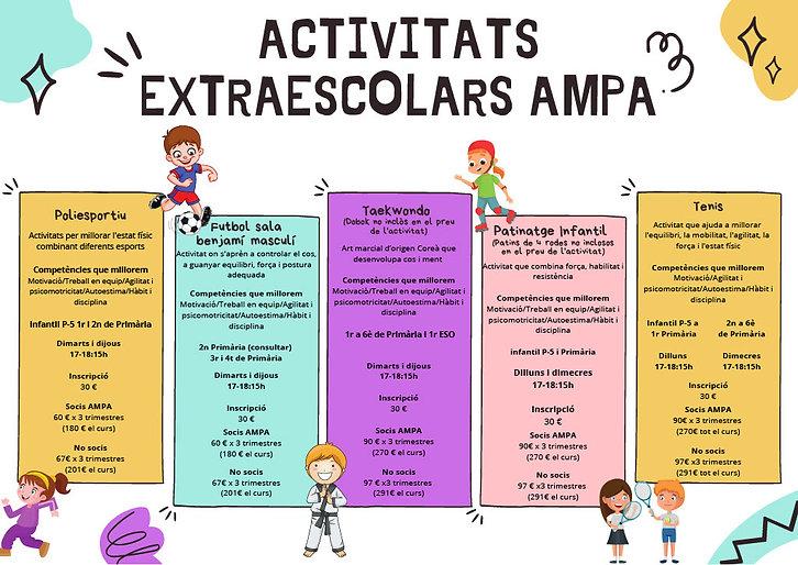 Activitats extraescolars AMPA 2021 20221