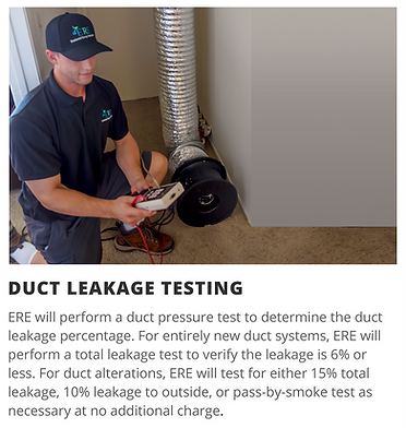 Duct Leakage Test