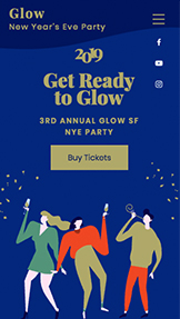 events website templates new years eve party