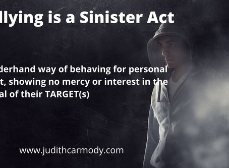 Bullying is a Sinister Act