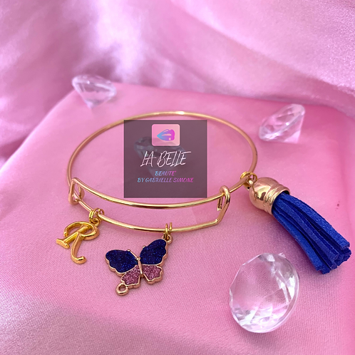 Gold Initial Bangles
