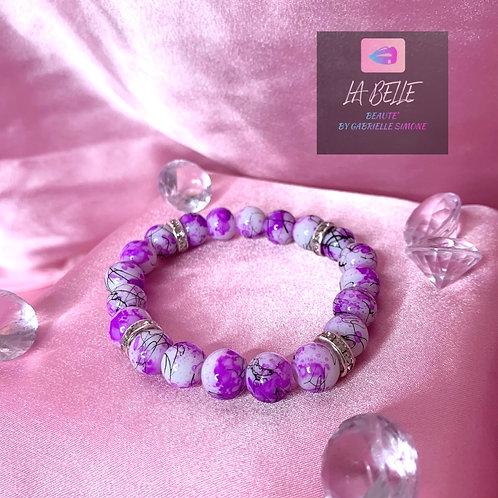 Purple & Black Beaded Bracelet