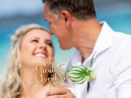 Zoe and Brad's Whitehaven Beach Wedding