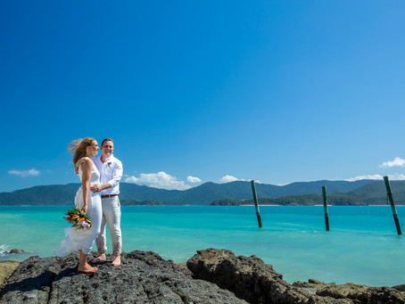 Caitlin and Hans Elopement at Daydream Island