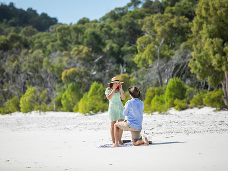 Jeremy and Fran's Proposal at Whitehaven Beach - She Said Yes!!!